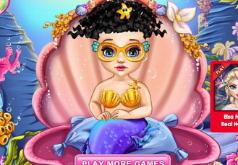 Игра Новая прическа для малышки Ариэль