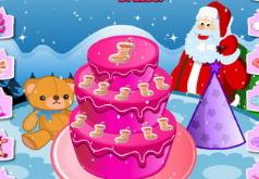 Игры для девочек готовить новогодний торт