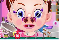 Игра Малышка Эмма лечит нос