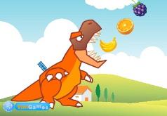 Игра Динозавр ест фрукты