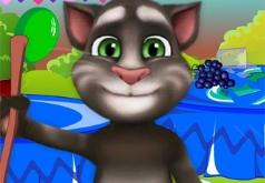 Игры Говорящий кот Том Уборка после дня рождения