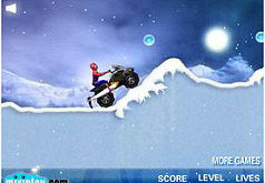 Игра Человек паук на снегоходе