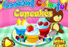 Игра Приготовление красочных кексов