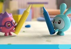 Игра «Малышарики пазл: Фломастеры»