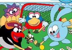 игра смешарики хоккей