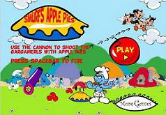 Игры Смурфики Стрельба яблочным пирогом