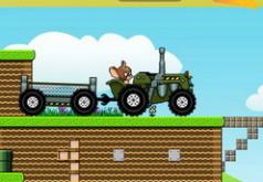 Игра Том и Джерри гоняют на тракторе