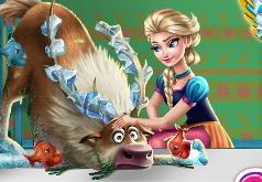 игра королева эльза принцесса анна и олень