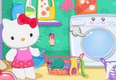 игры для девочек хелло китти уборка