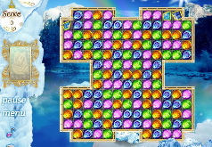 игра шарики снежная королева