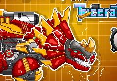 Игра Стальная дино игрушка Механический Трицератопс