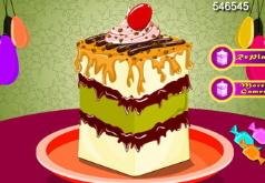 Игры Украшаем кусочек торта