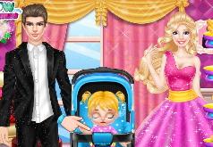 Игры Барби и Кен ухаживают за маленькой дочуркой