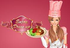 игры повар в розовом