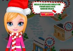 Игра Подготовка к рождеству малышкой Барби