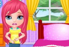 Игры Операция на животе маленькой Барби