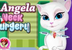 Игры Говорящий кот Операция на шее Анжелы