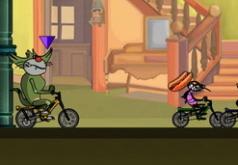 Игры Огги на гоночной машине