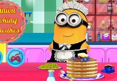 Игры Миньон готовит блины