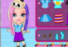Игра Малышка Барби Сумасшедшие стрижки