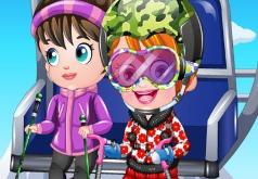 Игра Малышка Хейзел лыжник