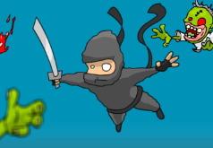 Игры Super Ninja Skydiving Plus Zombies