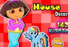 Игра Украшение кукльного домика Доры