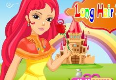 игры принцесса с длинными волосами