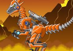 Игры Роботы Динозавры Боевой Раптор