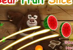 игры медведь режет фрукты