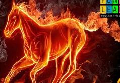 Игра Огненная лошадь пазл