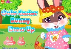 Игра Одевалка пасхального кролика