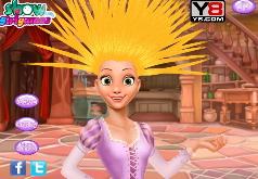 Игры Модная прическа для принцессы Рапунцель