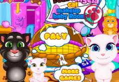 Игры Говорящий кот Малыши в комнате Тома и Анжелы