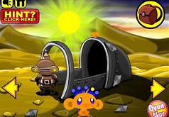 Игры Счастливая Обезьянка Побег с Планеты