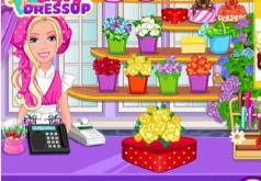 Игра Барби в своем цветочном магазине