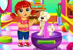 Игры Дора ухаживает за щенками