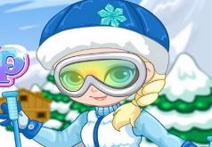 Игры Эльза на лыжах