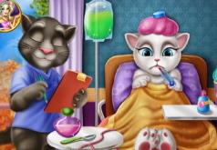 Игра Лечим говорящую Анжелу от гриппа