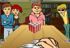 Игры Попади мячом в пивной стакан