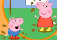Игра Пазл Свинка Пеппа и грязное белье