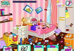 Игры Уборка в Комнате с Кошечкой Хелло Китти