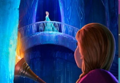 Игра Анна и Эльза на льду паззл