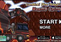 Игры Роботы динозавры Магма Спинозавр