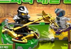 Игры лего ниндзя го битвы на спинерах