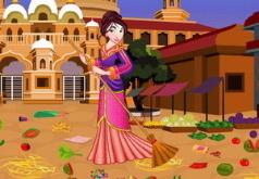 Игра Принцесса Мулан Уборка на рынке