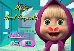 Игры Маша у доктора лечит нос