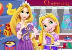 Игры Маленькая Рапунцель с мамой за покупками