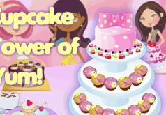 Игры Дизайн тортика из кексов
