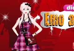 игры эмо в черном и розовом